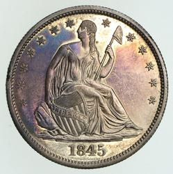 1845-O Seated Liberty Half Dollar - Circulated