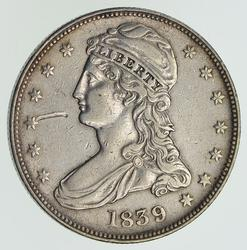 1839 Capped Bust Half Dollar - Small Letters Reverse - Circulated