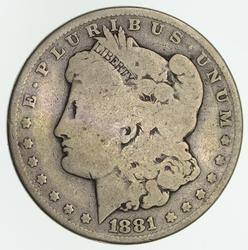1881-CC Morgan Silver Dollar - Circulated