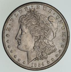 1884-S Morgan Silver Dollar - Near Uncirculated