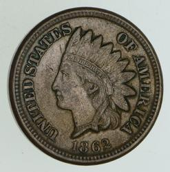 1862 Indian Head Cent - Circulated