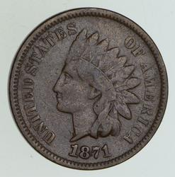 1871 Indian Head Cent - Circulated