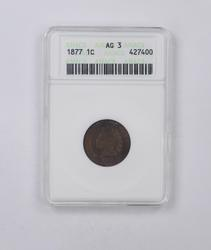 AG3 1877 Indian Head Cent - ANACS Graded