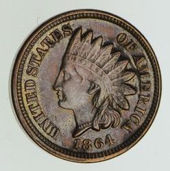 1864 Indian Head Cent - Type 2 - Circulated