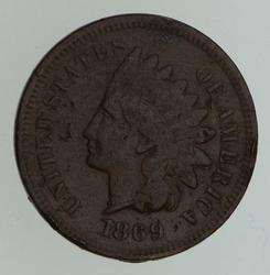 1869/9 Indian Head Cent - Circulated