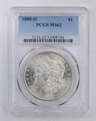 MS62 1880-O Morgan Silver Dollar - PCGS Graded