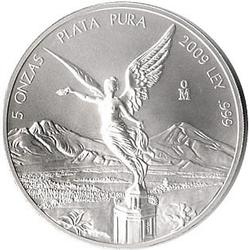Mexican Silver Libertad 5 Ounce 2009
