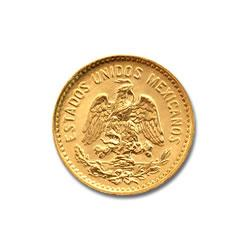 Mexico 5 Pesos Gold Coin .1206 troy ounces of gold