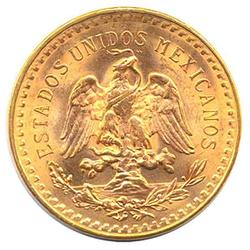Mexico 50 Pesos Gold Coin 1.205 troy ounces of gold