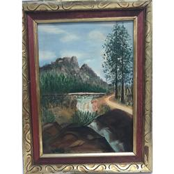 Beautiful Framed Original Hand Painted Oil Painting