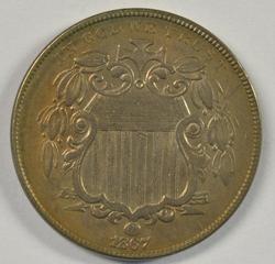 Sharp and attractive 1867 Shield Nickel