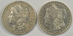Better dates 1885-S and 1892 Morgan Silver Dollars