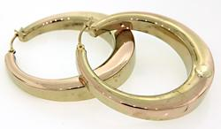 Tapered Yellow Gold Hoop Earrings