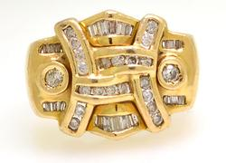 Bold Mens Diamond Ring