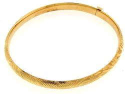 Textured Design 14K Gold Bangle