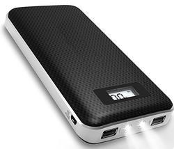 Portable Phone Charger w/ Dual USB & LED Flash Lights