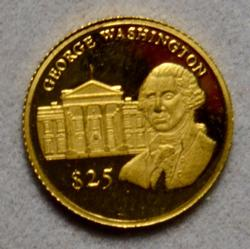 Liberia $ 25 2000 George Washington Gold Proof
