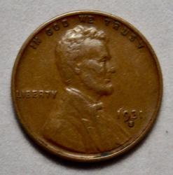 Key 1931 S Lincoln Cent near Unc