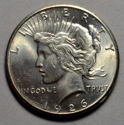 1926 Gem BU Peace Dollar