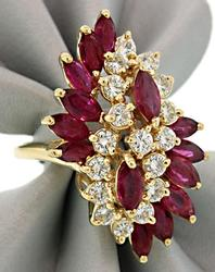 Stunning Ruby & Diamond Cocktail Ring at 3.0 CTW