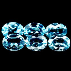 Dazzling 8.36ct 8x6mm 6pc Brazilian Topaz set