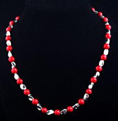 Coral Red Beads Necklace