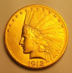 1912 US Gold $10.00 Indian Circulated