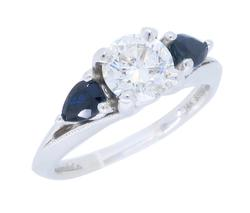 Gabriel & Co. Diamond and Sapphire Ring