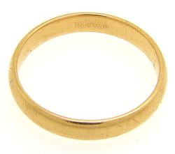 14kt Yellow Gold Wedding Band Size 11