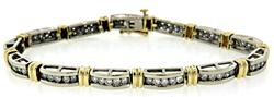 Two Tone Diamond Channel Set Bracelet