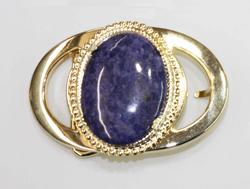 Beltbuckle with Natural Sodalite Cabochon