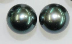 Fine Quality Natural Color Tahitian Pearl Pair