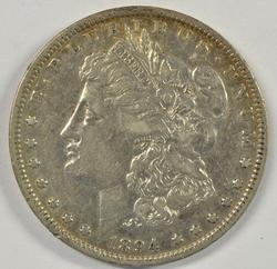 The Rare 1894-P Morgan Silver Dollar in XF