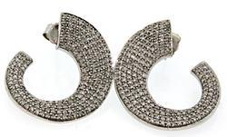 1.0 CTW Diamond Swirl Earrings