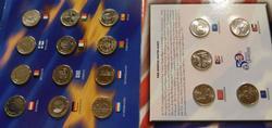 Euro & State Qtr Album - 12 Euros and $1.25 face