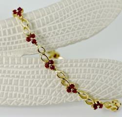 Feminine Ruby Bracelet