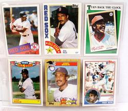 6 Jim Rice, Red Sox Topps Baseball Cards