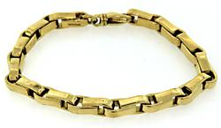 Vintage Tiffany & Co Bicycle Chain Link Bracelet in 18K