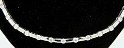 Very Fine 18K Diamond Bezel Set Necklace at 1.50 CTW