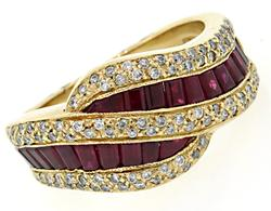 Levian Ruby & Diamond Band at 1.53 CTW