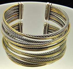 David Yurman Bangle Bracelet, Two Tone