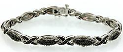 Black & White Diamond Bracelet in Sterling