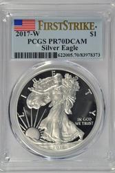 Better 2017-W PCGS PR70DCAM FIRST STRIKE Silver Eagle