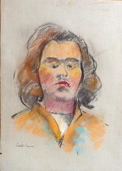 Portrait of a Man, Colored Pencils on Paper