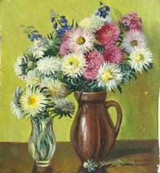 The Two Vases, Oil on Card