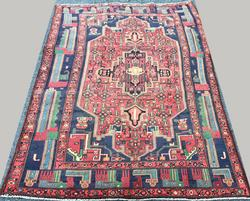 Darling 1950s Authentic Hand Woven Vintage Persian Rug