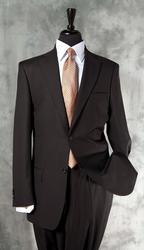 Super Fine Quality Black Color Italian Suit By Galante