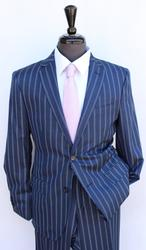 Superb Navy Color Slim Fit Suit, Made By Galante