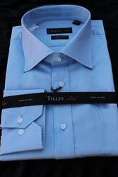 Designer 100% Cotton Regular Cuff Dress Shirt By Tiglio