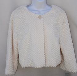 Amanda Charles Stylish Faux Feather Jacket